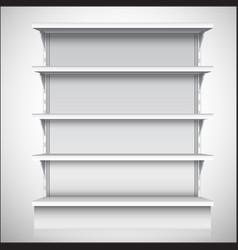 White supermarket shelves vector image vector image