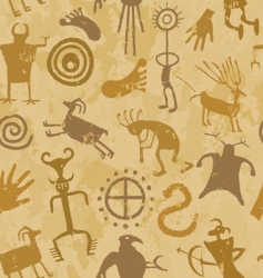 cave painting vector image vector image