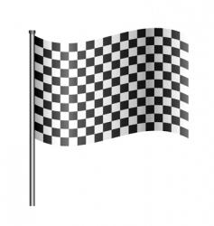 checkered racing flag vector image vector image