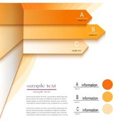 infographics ABC vector image
