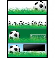 set soccer background vector image vector image