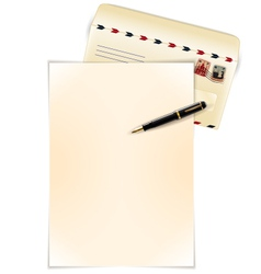 write a letter vector image