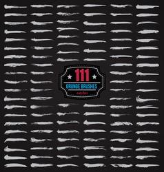 111 grunge brushes vector image