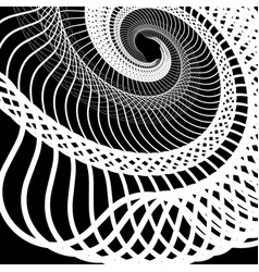 Abstract random squiggly spirally lines swirling vector