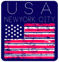 American grunge flag an american grunge flag for vector