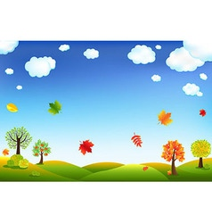 Autumn Cartoon Landscape vector