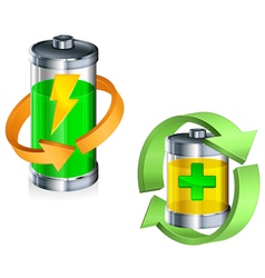 battery recycling concept color v vector image