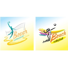 Beach volleyball sport game vector