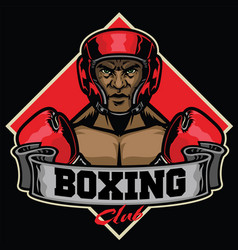 Boxing club badge vector