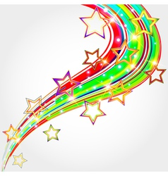 Bright abstract background with stars vector image