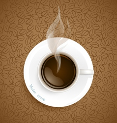 Coffee with Coffee beans background vector image