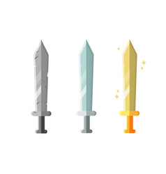 Collection decoration weapon for games set of vector