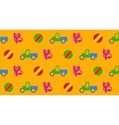 Colorful seamless pattern with toys vector