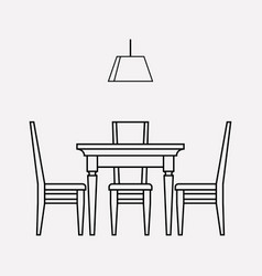 Dining room icon line element vector