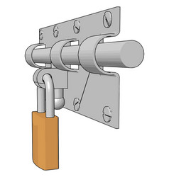 door locks on white background vector image