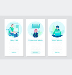 effective work - set of flat design style banners vector image