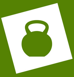 fitness dumbbell sign white icon obtained vector image