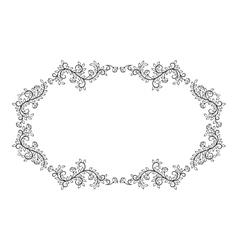 Floral design frame vector image