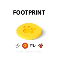 Footprint icon in different style vector