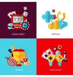 Game design set vector image