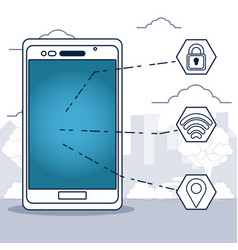 gps tracking technology vector image