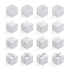 gray gift boxes set vector image