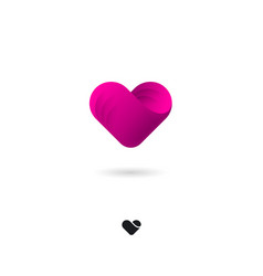 Icon heart medical health love cardio valentines vector