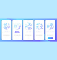 Industry 40 tendency onboarding mobile app page vector