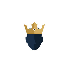 king human head logo icon design vector image