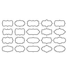 label line border blank frame card sale text set vector image