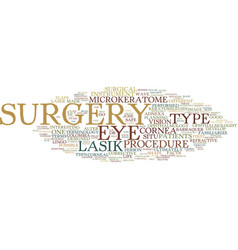 Lasik surgery terms you should know text vector