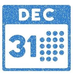 Last Year Day Grainy Texture Icon vector