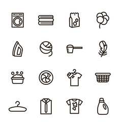 laundry sign black thin line icon set vector image