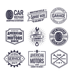 Logo for car repair service station maintenance vector