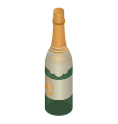 luxury champagne bottle icon isometric style vector image