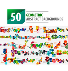 Mega collection of 50 geometric abstract vector