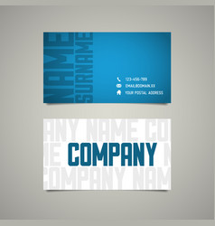 Modern simple business card template with big vector
