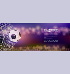 moment with ball in net football game match vector image