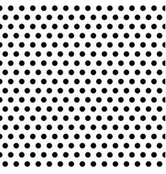 Monochrome dotted seamless pattern vector