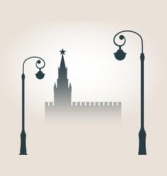 Moscow cityscape skyline vector
