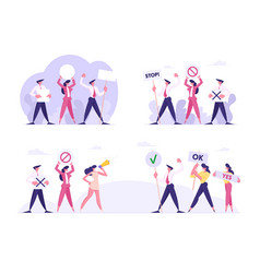Opposite teams business people or politics vector
