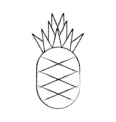pineapple fresh fruit isolated icon vector image