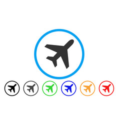 plane rounded icon vector image