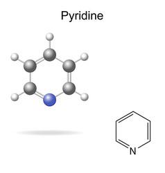Pyridine molecule vector image