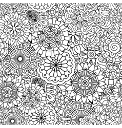 Seamless round floral pattern with pinwheel shapes vector image