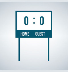 Simple home and guest scoreboard icon isolated on vector