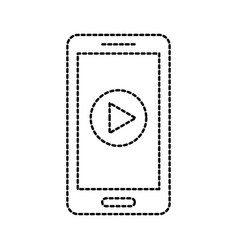 smartphone play button digital online vector image