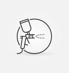 Spray gun in circle concept icon in line vector