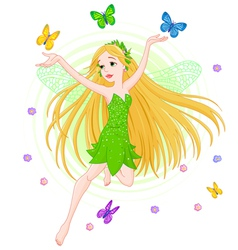 Spring fairy vector image