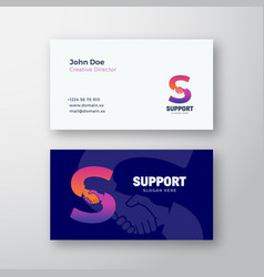 support abstract sign or logo and business vector image